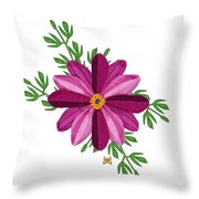 Merlot Cosmos Botanical Throw Pillow by Anne Norskog