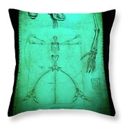 Mermaid Anatomia Throw Pillow