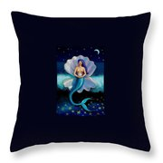 Mermaid Art- Mermaid's Pearl Throw Pillow