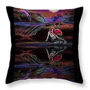 Mermaid Daydream  Throw Pillow