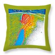 Mermaid Dives In Throw Pillow