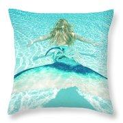 Mermaid Escape 2 Throw Pillow