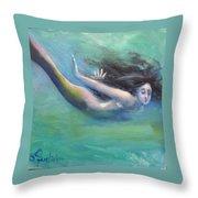 Mermaid Freedom Throw Pillow