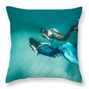 Mermaid Friends Throw Pillow