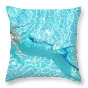 Mermaid Glide Throw Pillow