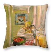 Mermaid In The Kitchen Throw Pillow