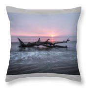 Mermaid In The Surf Throw Pillow