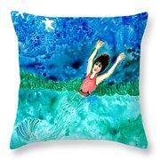 Mermaid Metamorphosis Throw Pillow