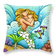 Mermaid Mom Throw Pillow