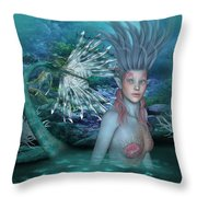Mermaid Of The Deep Sea 2 Throw Pillow