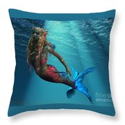 Mermaid Of The Ocean Throw Pillow