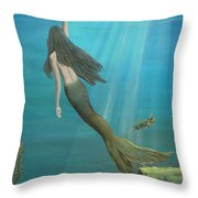Mermaid Of Weeki Wachee Throw Pillow