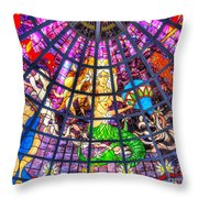 Mermaid Stained Glass Art  Throw Pillow