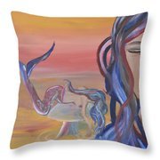 Mermaid Tears Throw Pillow