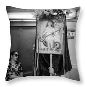Mermaid Venus Throw Pillow
