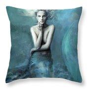 Mermaid Water Spirit Throw Pillow