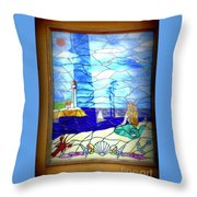 Mermaid Window  Throw Pillow