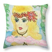 Mermaid With Music  Throw Pillow