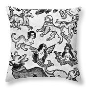 Mermaids, 1475 Throw Pillow