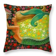 Mermaid's Circle Throw Pillow