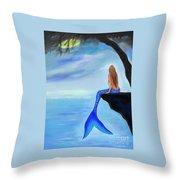 Mermaids Lovely Oasis Throw Pillow