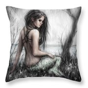 Mermaid's Rest Throw Pillow
