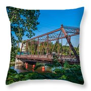 Merriam Street Bridge Throw Pillow