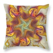 Merriment Of Color Throw Pillow