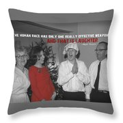 Merriment Quote Throw Pillow