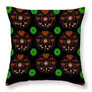 Merry And Happy  Candy With Flair Throw Pillow