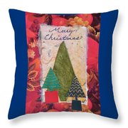 Merry Christmas Card Throw Pillow