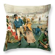 Merry Christmas Throw Pillow by Frank Dadd