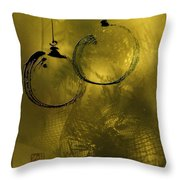 Merry Christmas Greetings In Soft Yellow Throw Pillow