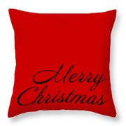 Merry Christmas In Black Throw Pillow