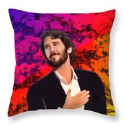 Merry Christmas Josh Groban Throw Pillow