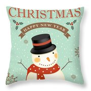 Merry Christmas-jp2766 Throw Pillow