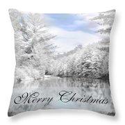 Merry Christmas - Lykens Reservoir Throw Pillow