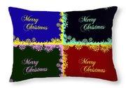 Merry Christmas Pop Art Throw Pillow