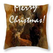 Merry Christmas Reindeer 2 Throw Pillow