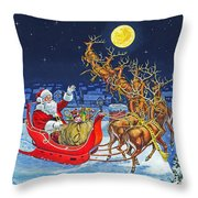 Merry Christmas To All Throw Pillow by Richard De Wolfe