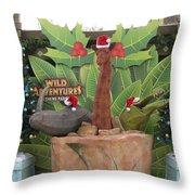Merry Christmas - Wild Adventures Throw Pillow