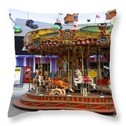 Merry-go-round At The Prater Throw Pillow