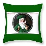 Merry Irish Santa Throw Pillow