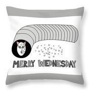 Merry Wednesday Throw Pillow