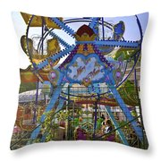 Merry Wheel Throw Pillow