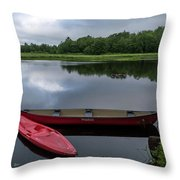 Mersey River Throw Pillow