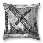 Merz Telescope, Royal Observatory Throw Pillow