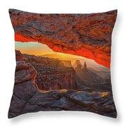 Mesa Arch Sunrises Glow Throw Pillow