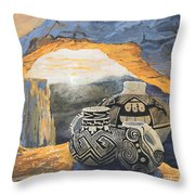 Mesa Arch Magic Throw Pillow