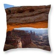 Mesa Arch Morning Glow Throw Pillow